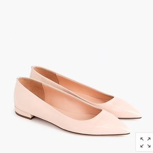 J.Crew pink patent leather point toe flat sz 8.5 9
